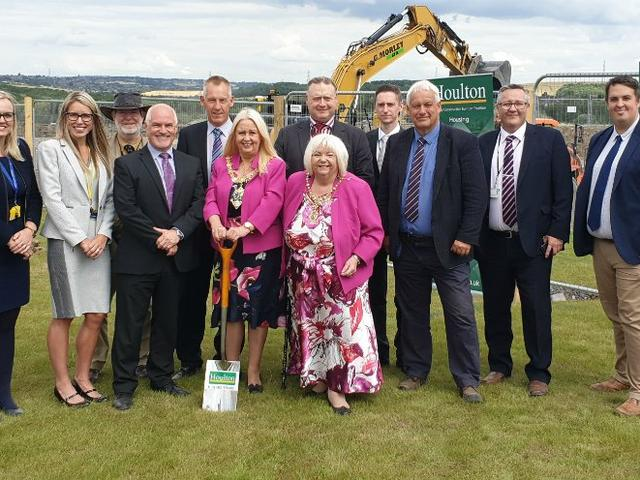 Ground Breaking Ceremony For Rotherham Metropolitan Borough Council's New Waverley Academy Project
