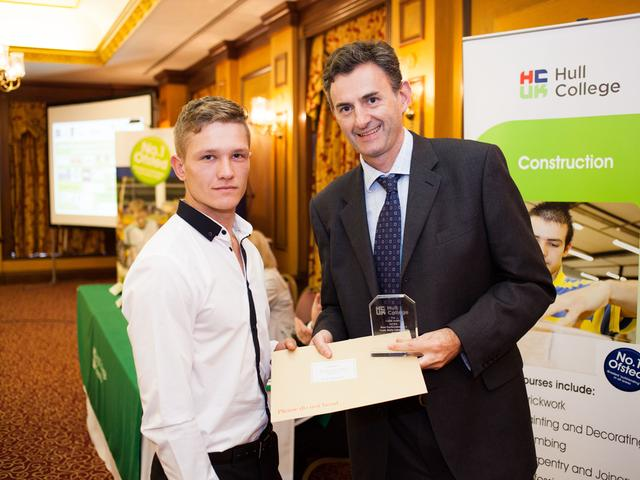 Hull College of Construction Awards  June 2013 - Billy Grimmer