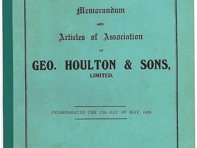 Articles of Association 1935