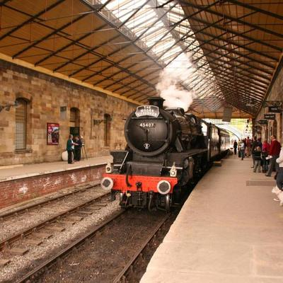 Steam Train under new Pickering Station Roof