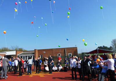 St Anne's School Welton - Balloon Race Launch