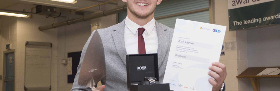 Josh Hunter with his Awards
