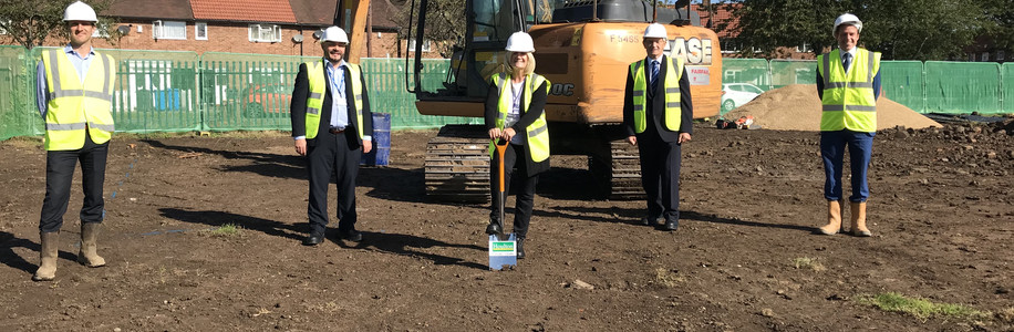 Ground Breaking Occasion at Plym Grove, Longhill, Hull