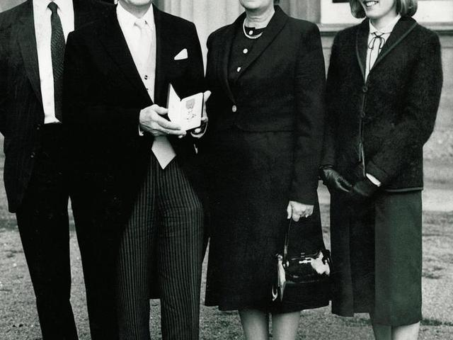 R E Houlton MBE with family
