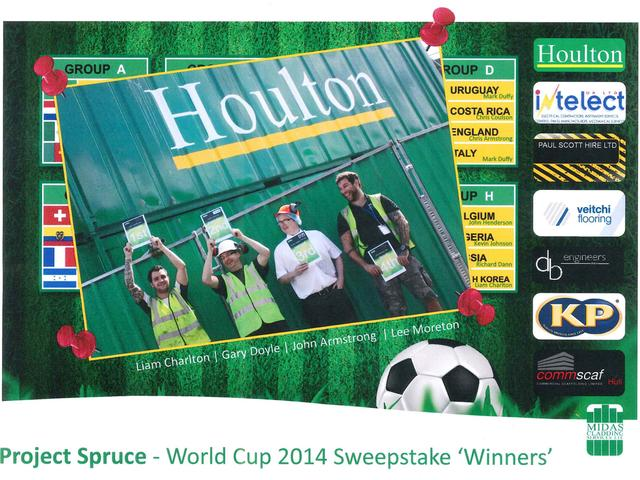 Houlton KP Spruce World Cup Sweepstake Winners