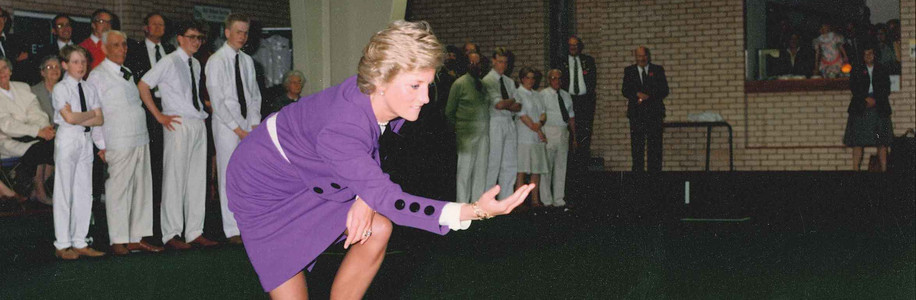 Charnwood Bowls Opening by Princess Diana - Loughborough