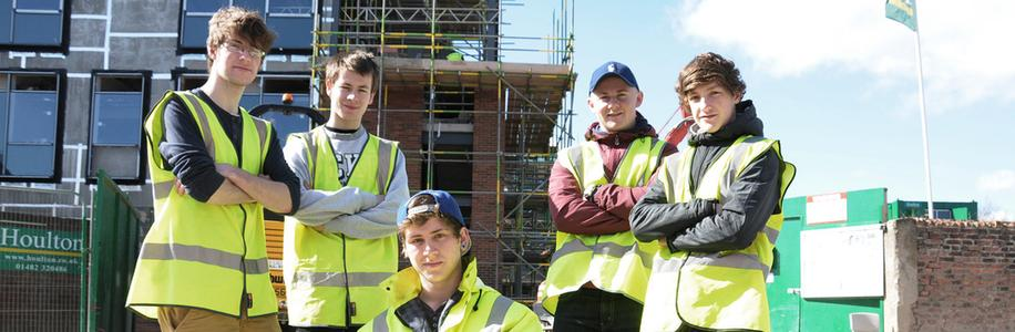 East Riding College - Construction Students Site Visit
