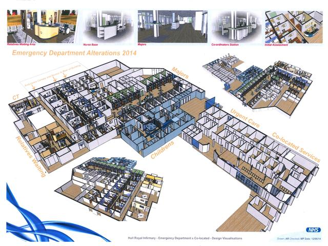 Hull Royal Infirmary Emergency Department Design Visualisation