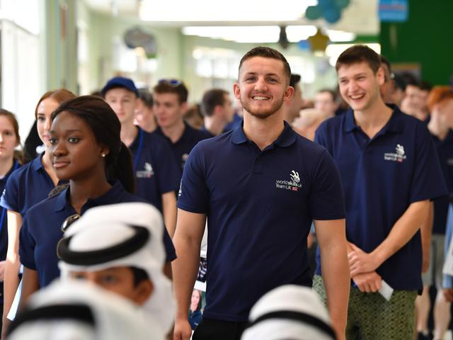 Josh at Al Ezzah School in Abu Dhabi