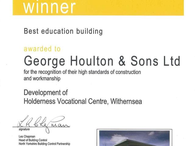 Holderness Vocational Centre LABC Award