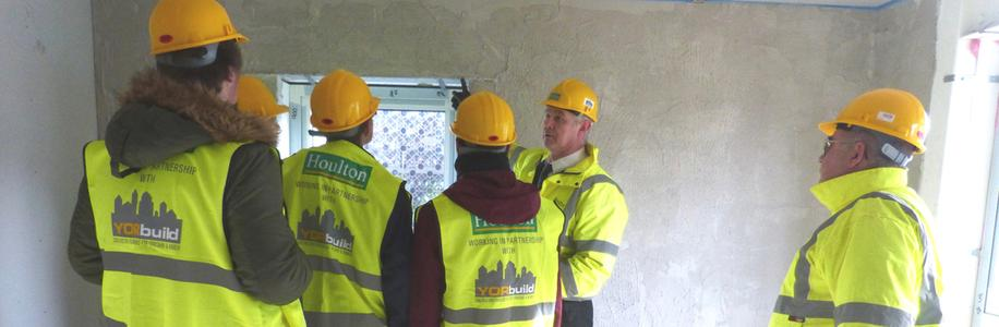 Bishop Burton College Students Visit Houlton Extra Care Construction Site, Beverley