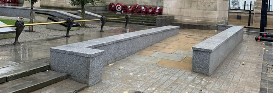 Works at The Grade II Listed Cenotaph Completed in Time for Remembrance Sunday