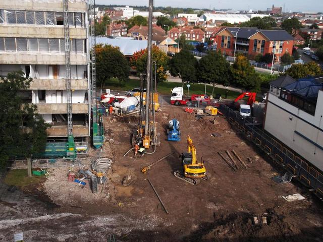 Piling Foundations to the New Sports Hall