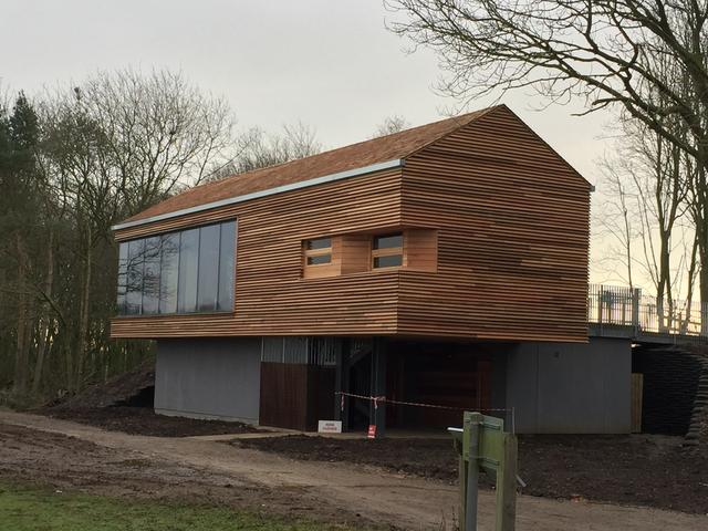 New Bird Hide for Yorkshire Water Authority at Tophill Low, Watton