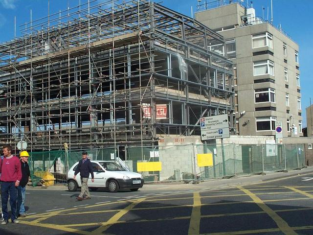 Scarborough Police Station during construction