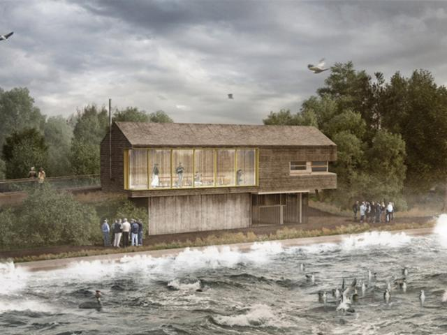 New Bird Hide For Yorkshire Water At Top Hill Low
