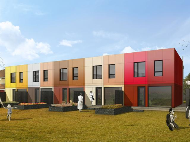 5 Houses at Villa Place, Hull for Goodwin Development Trust