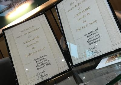 Hull Civic Society Good Mark Certificate