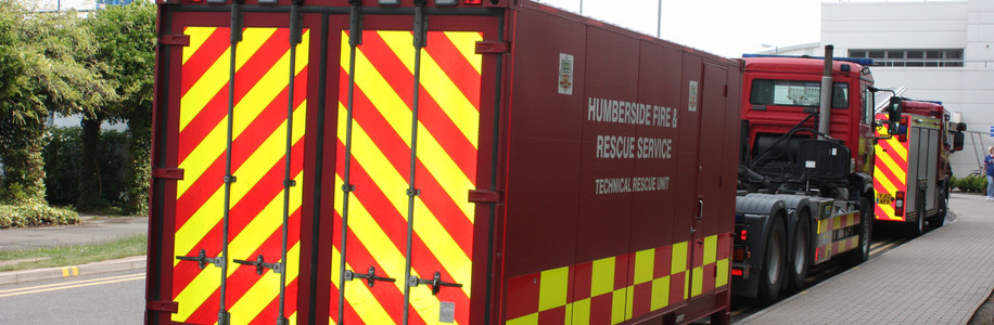 Hull Royal Infirmary Firefighter Exercise