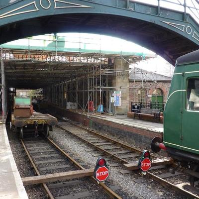 Constructing Pickering Station Roof
