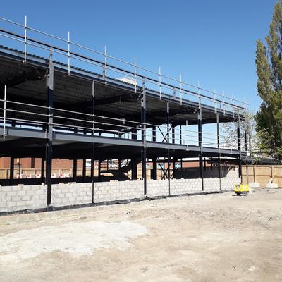 St Mary's College - Steel frame