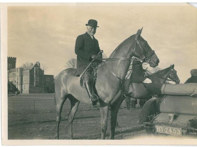 George Senior riding at Burton Constable